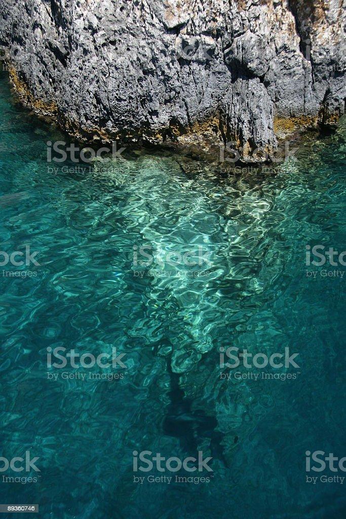 cliff in acqua foto stock royalty-free