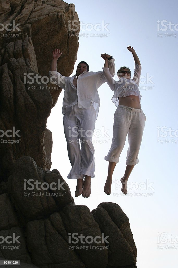 Cliff jumping royalty-free stock photo