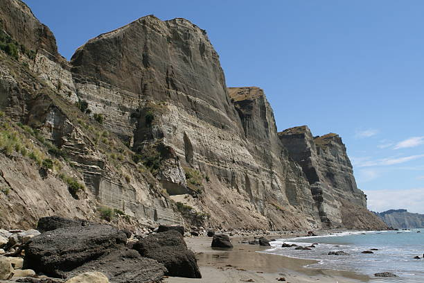 Cliff line, Hawkes Bay, New Zealand