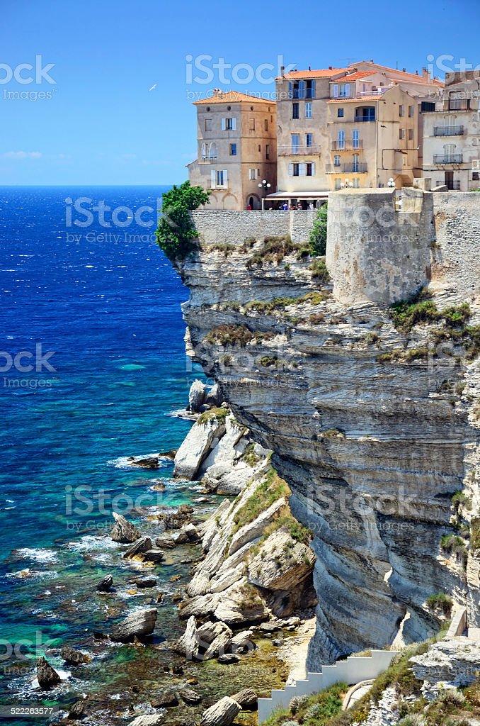 Cliff of Bonifacio stock photo