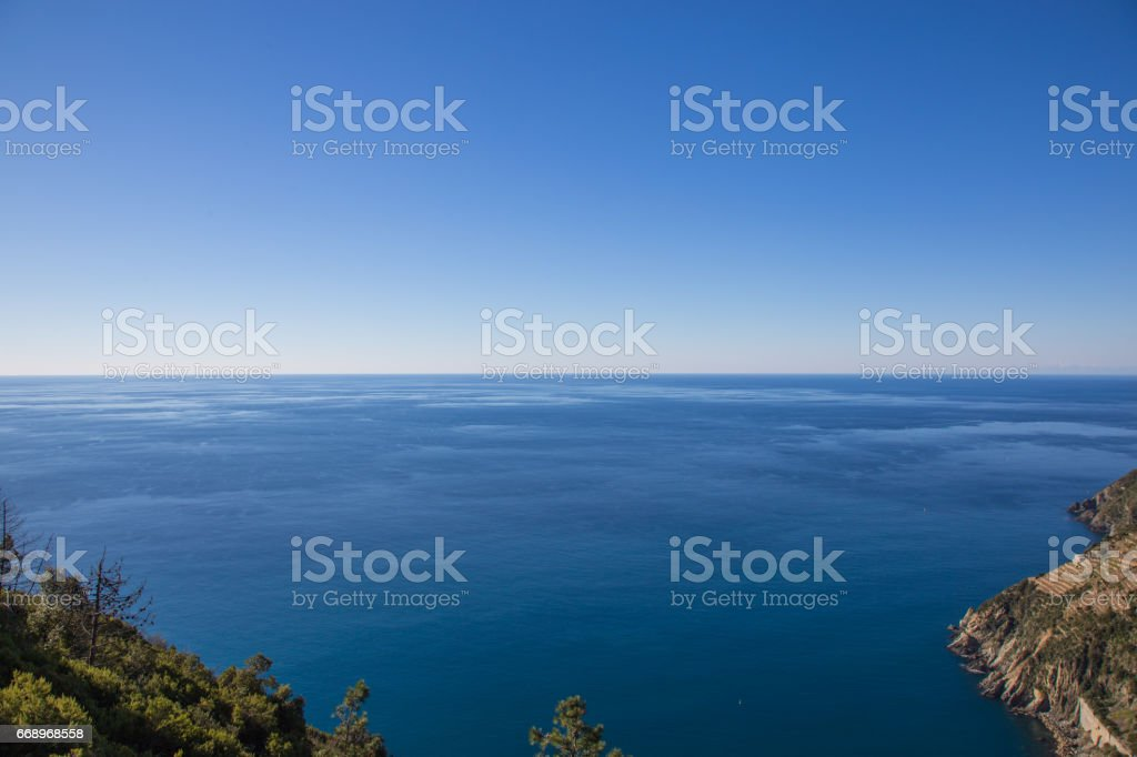 Cliff of Liguria in the area of Cinque Terre in Italy. foto stock royalty-free