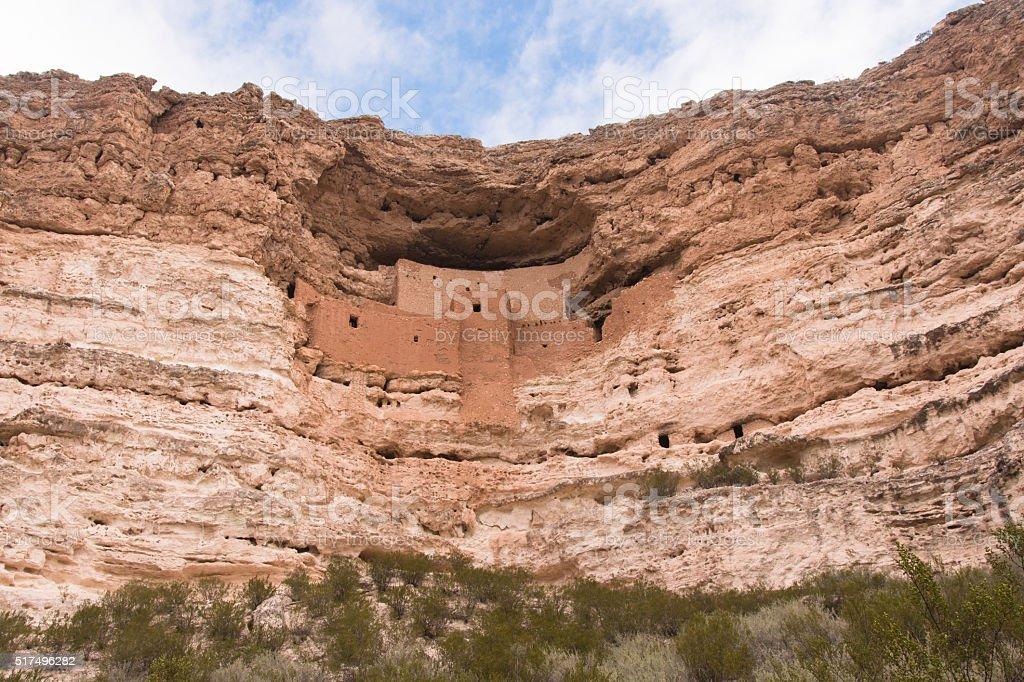 Cliff of Montezuma Castle stock photo