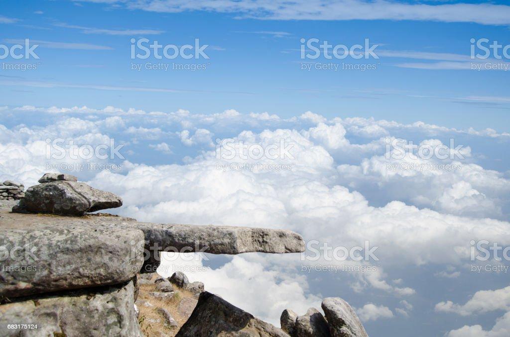 cliff on blue sky background 免版稅 stock photo