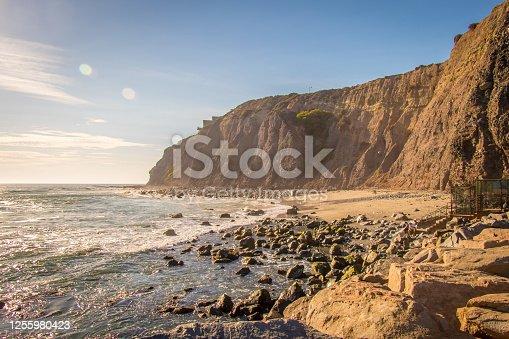 Cliff Overlooking the Ocean Coastline
