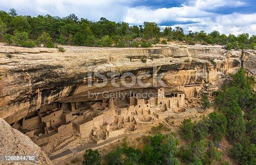 Palace at Mesa Verde National Park in Colorado, USA.