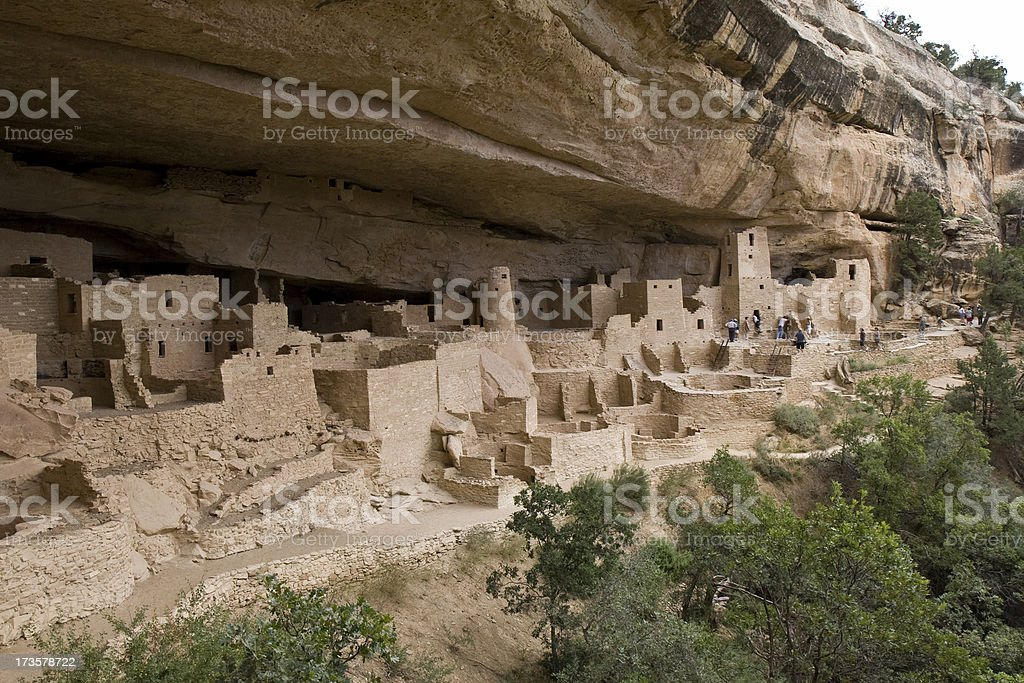 Cliff Palace Cliff Dwelling in Mesa Verde National Park, Colorado royalty-free stock photo