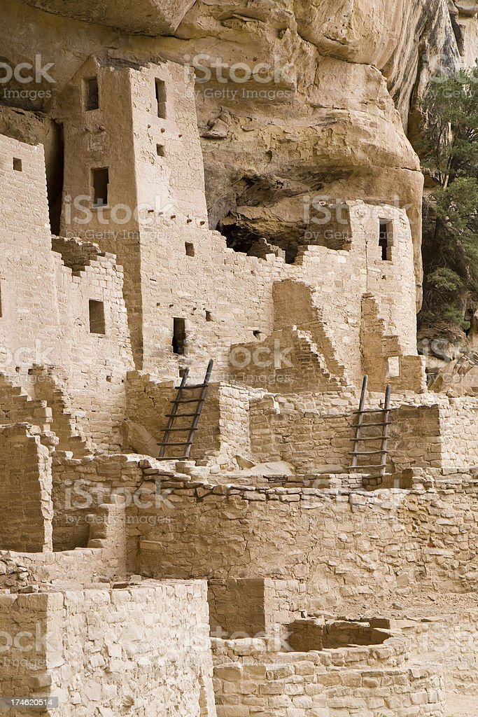 Cliff Palace Cliff Dwelling in Mesa Verde National Park, Colorado stock photo