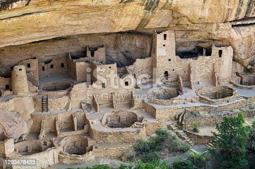 The main section of the Cliff Palace House at Mesa Verde National Park