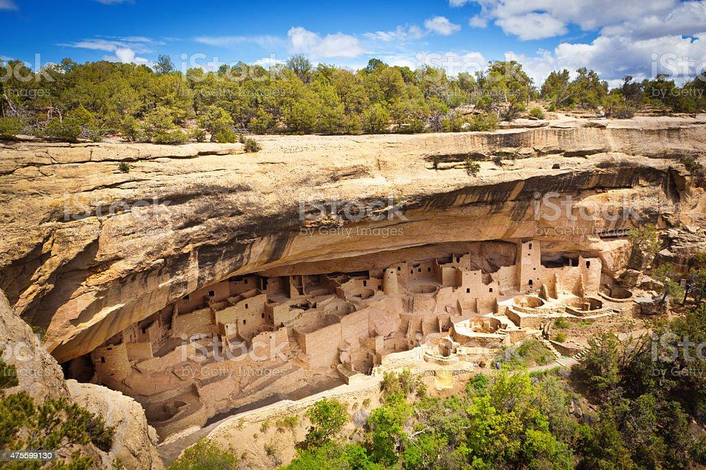 Cliff Palast in Mesa Verde, historischen Pueblo Felsenwohnung, Colorado – Foto
