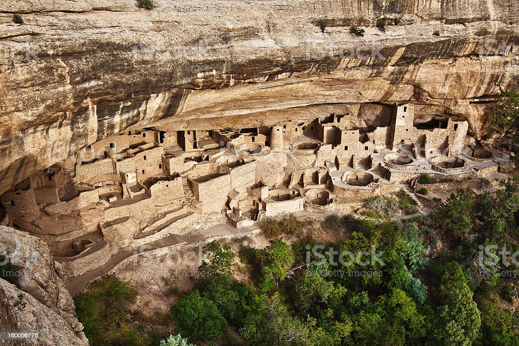 Cliff Palace in Mesa Verde National Park, Colorado stock photo