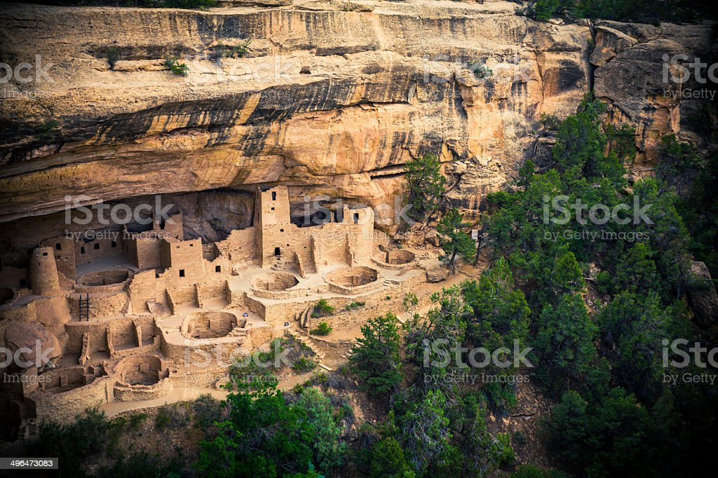 Cliff Palace in Mesa Verde National Park, Colorado, USA stock photo