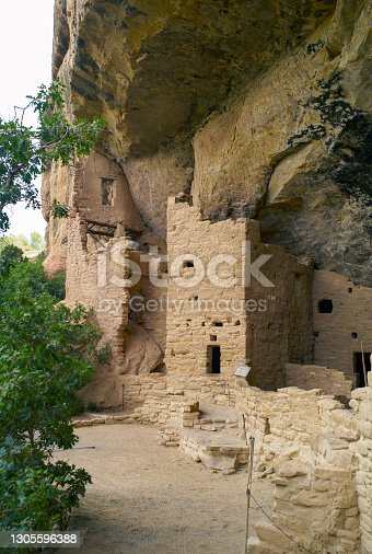 istock Cliff Palace in Mesa Verde, Ruins of an Anasazi Pueblo, Vertical Orientation 1305596388