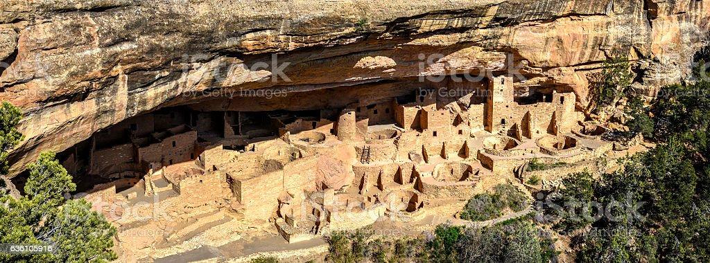 Cliff Palace panorama stock photo