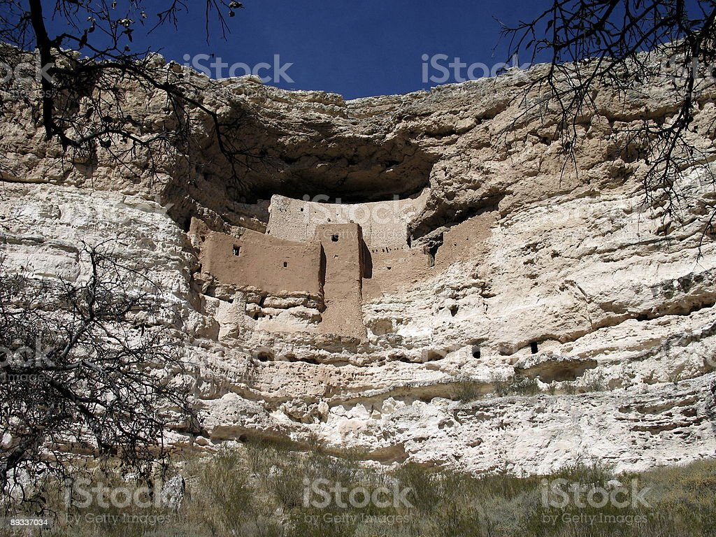 Cliff Perspective of Montezuma's Castle royalty-free stock photo