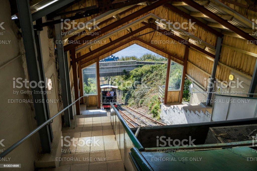 cliff railway stock photo