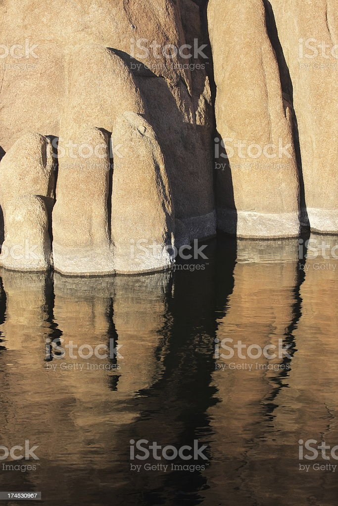 Cliff Rock Sandstone Reflection royalty-free stock photo
