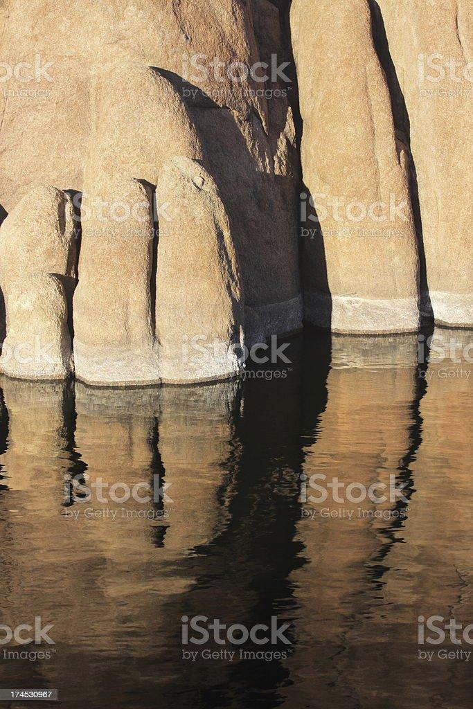 Cliff Rock Sandstone Reflection stock photo