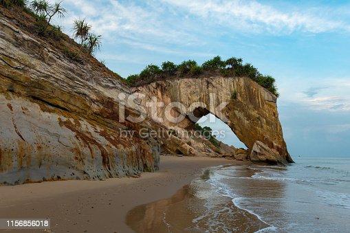 Tusan Cliff Sarawak also known as Horse Rock near Miri, Malaysia