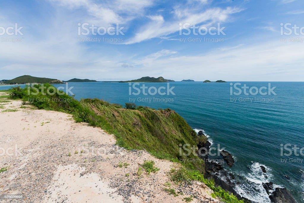 Cliff Sea stock photo
