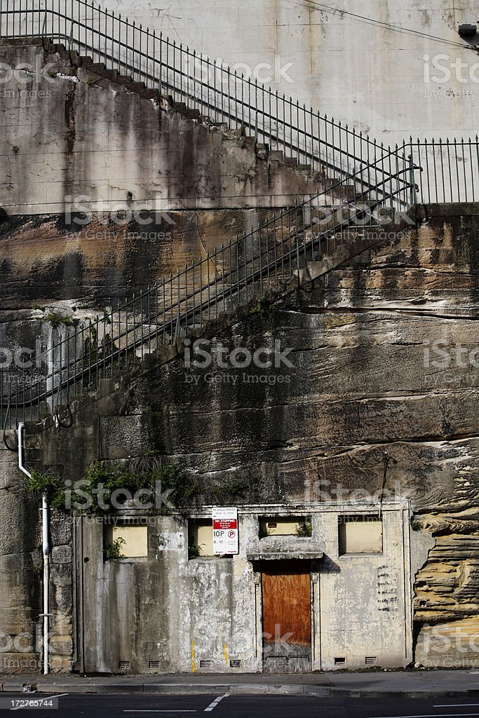 Cliff Stairs royalty-free stock photo