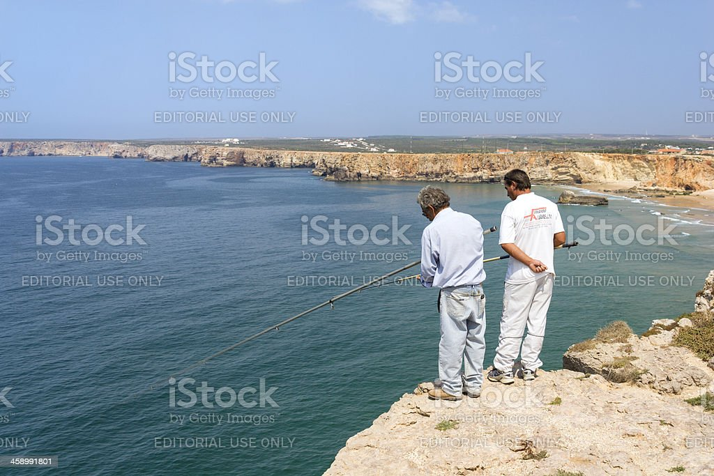 Cliff Top Fishing royalty-free stock photo