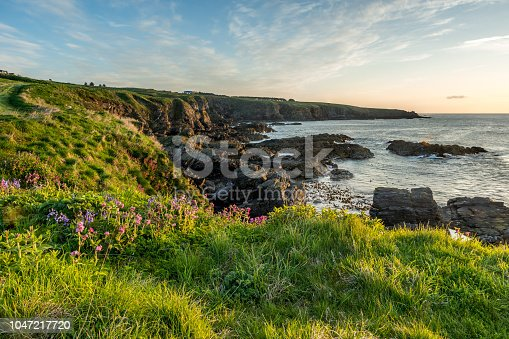 The Cove coastline, Aberdeen, Aberdeenshire.
