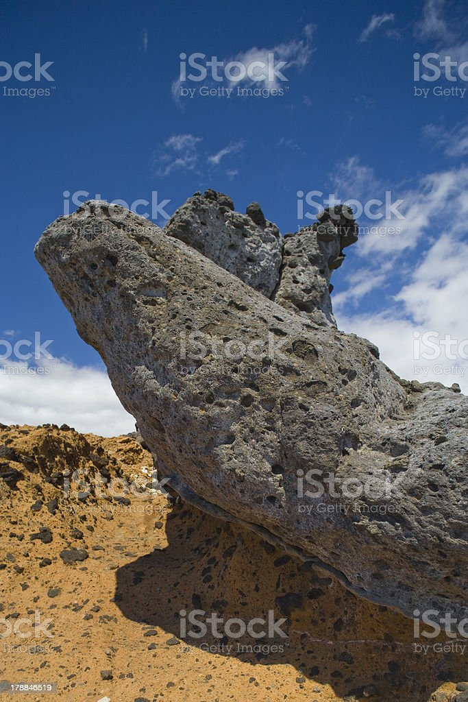 Cliff. Volcanic stones. stock photo