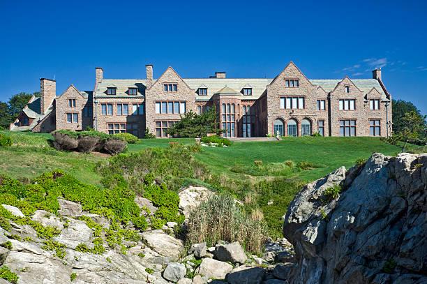 Cliff Walk Mansion in Newport stock photo
