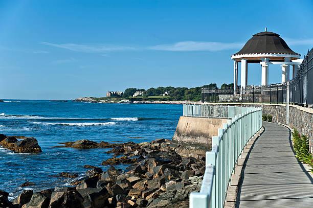 Cliff Walk Newport Rhode Island stock photo