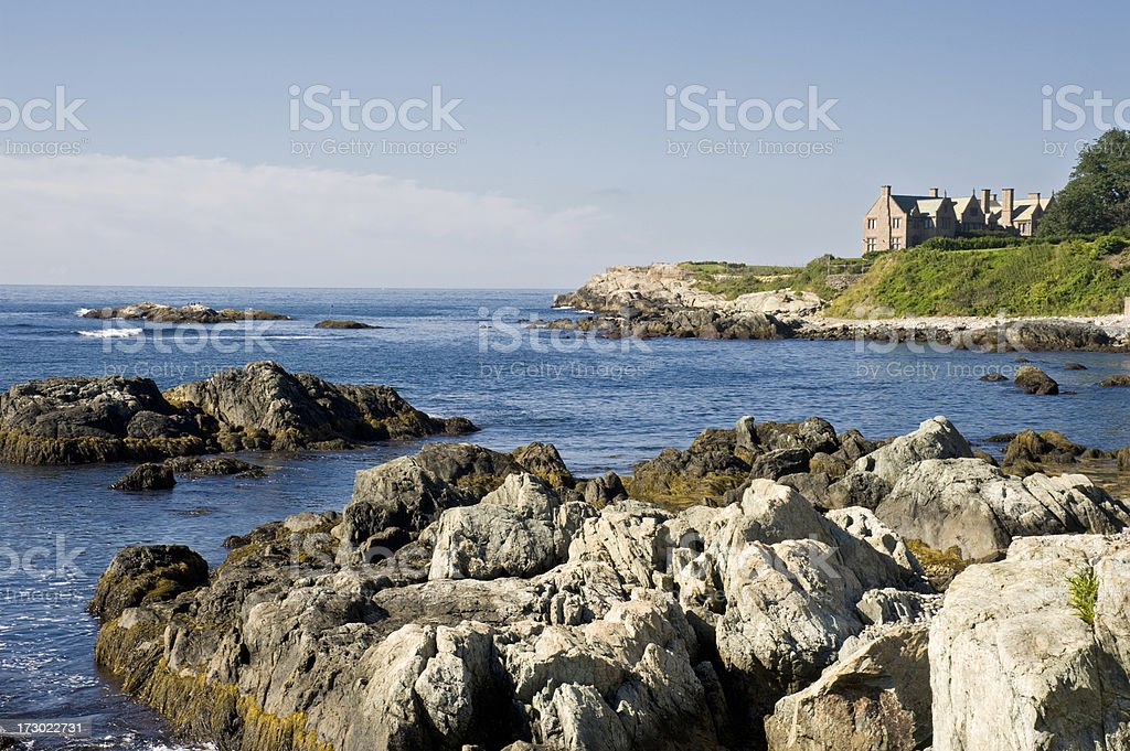 Cliff Walk Scenic View royalty-free stock photo