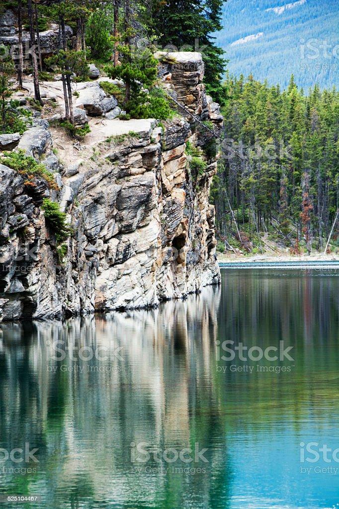Cliff Wall in Jasper Alberta stock photo