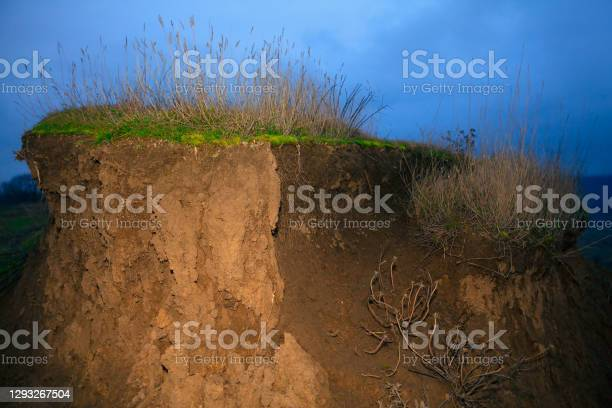 Photo of Cliff with Soil Erosion