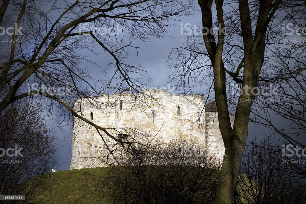 Clifford's Tower, the keep of York Castle stock photo
