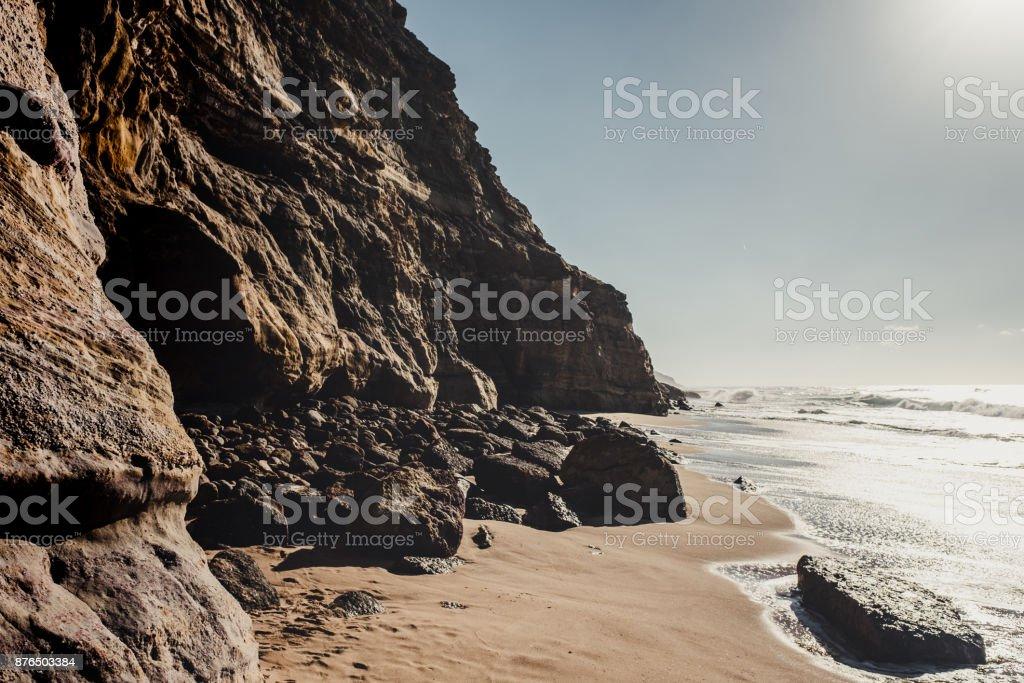 uçurum ve Atlantik Okyanusu, Portekiz stok fotoğrafı