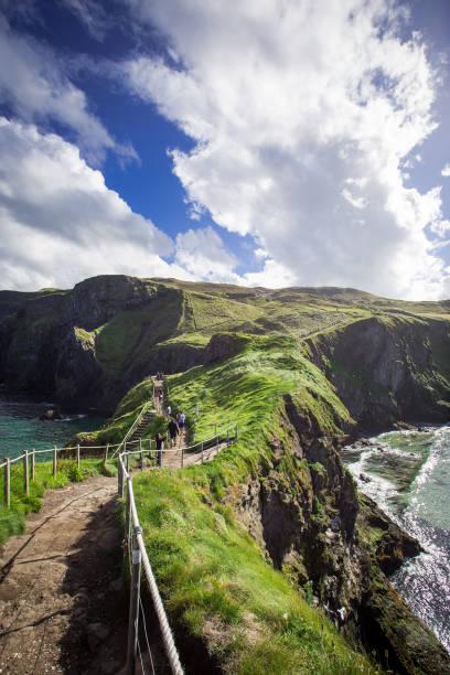 Cliffs and coastline of Northern Ireland stock photo