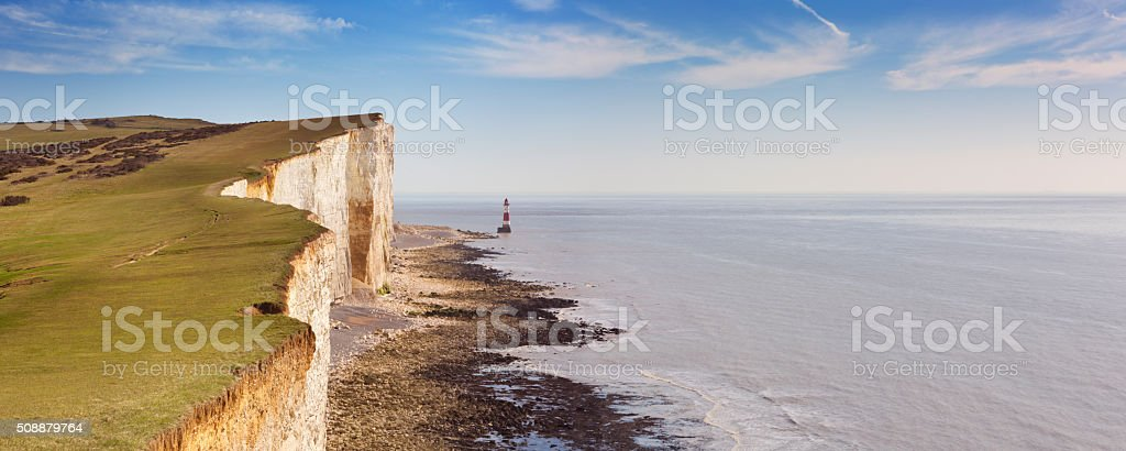 Cliffs at Beachy Head on the south coast of England stock photo