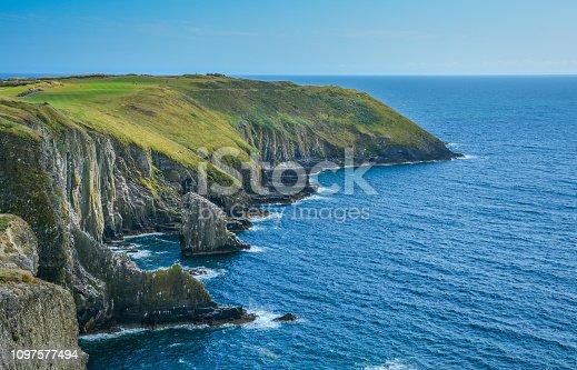 Cliffs at Old Head, County Cork, Ireland.