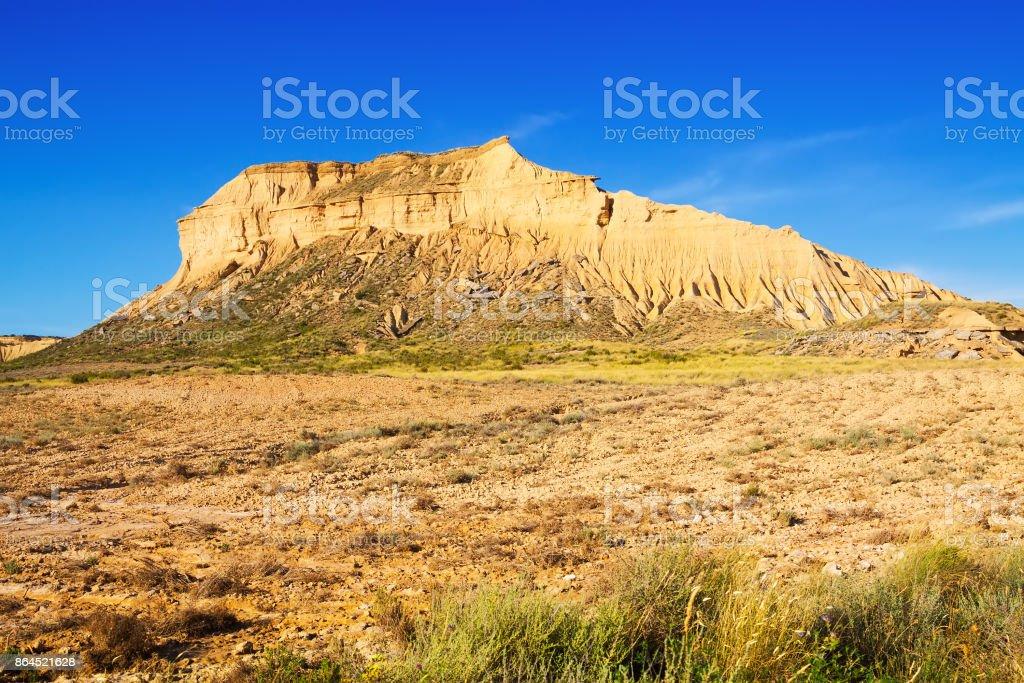 cliffs at semi-desert landscape stock photo