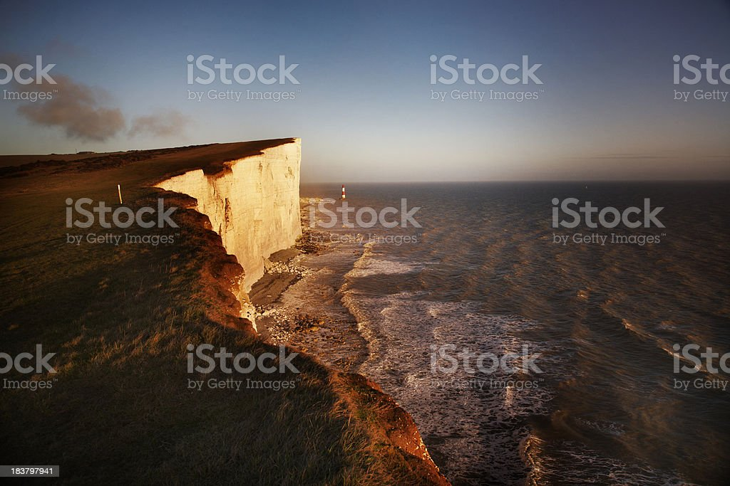 Cliffs at sunset stock photo