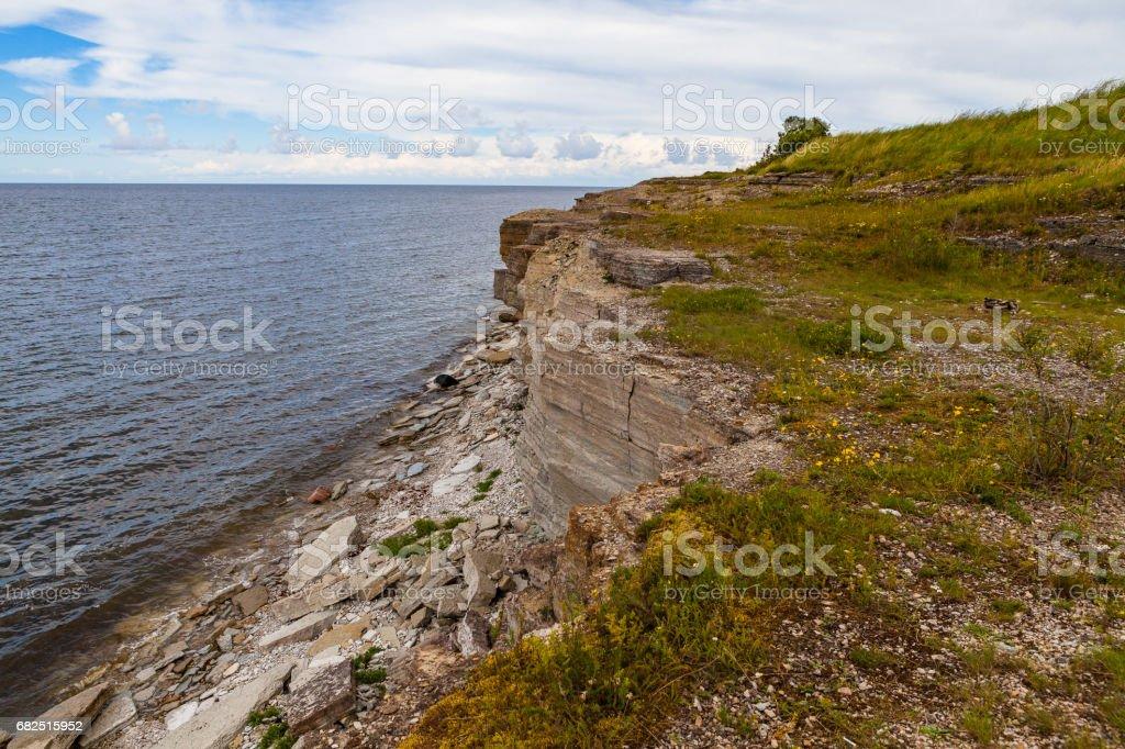 Felsen an der Küste in Paldiski, Estland Lizenzfreies stock-foto