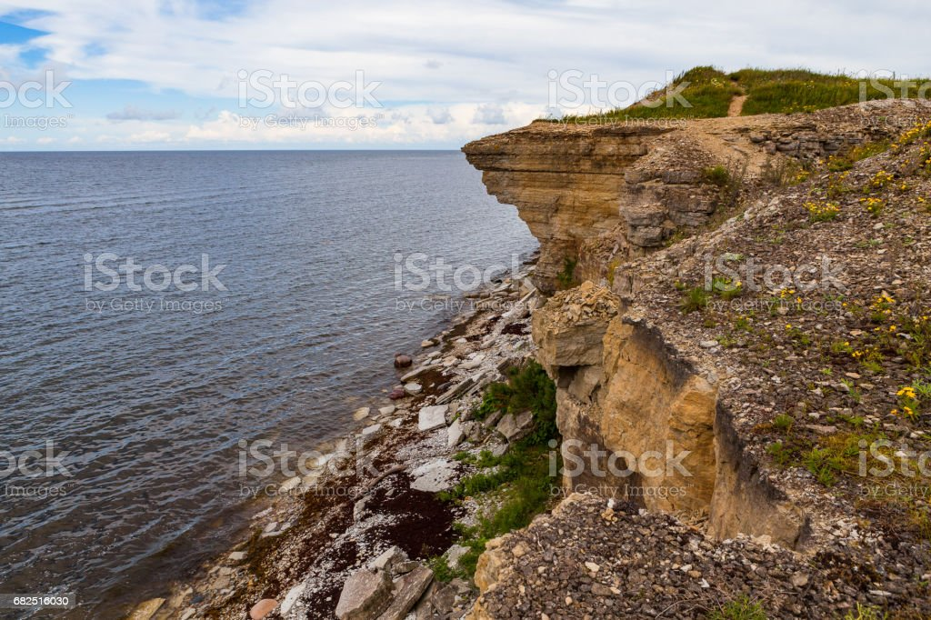 Cliffs at the coast in Paldiski, Estonia royalty-free stock photo