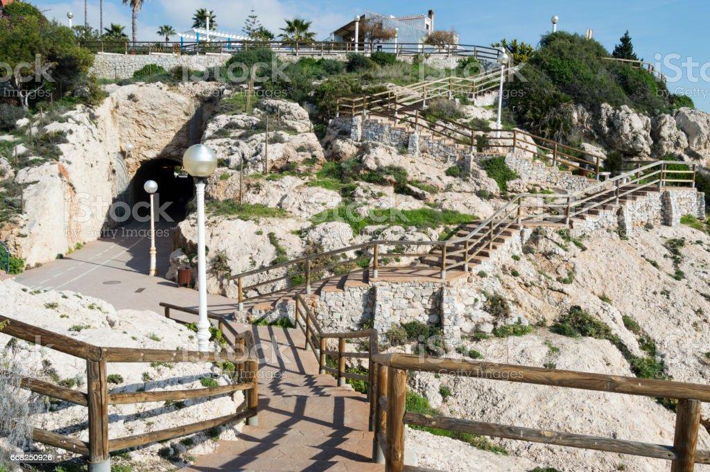Cliffs rincon de la victoria malaga spain acantilados foto stock royalty-free