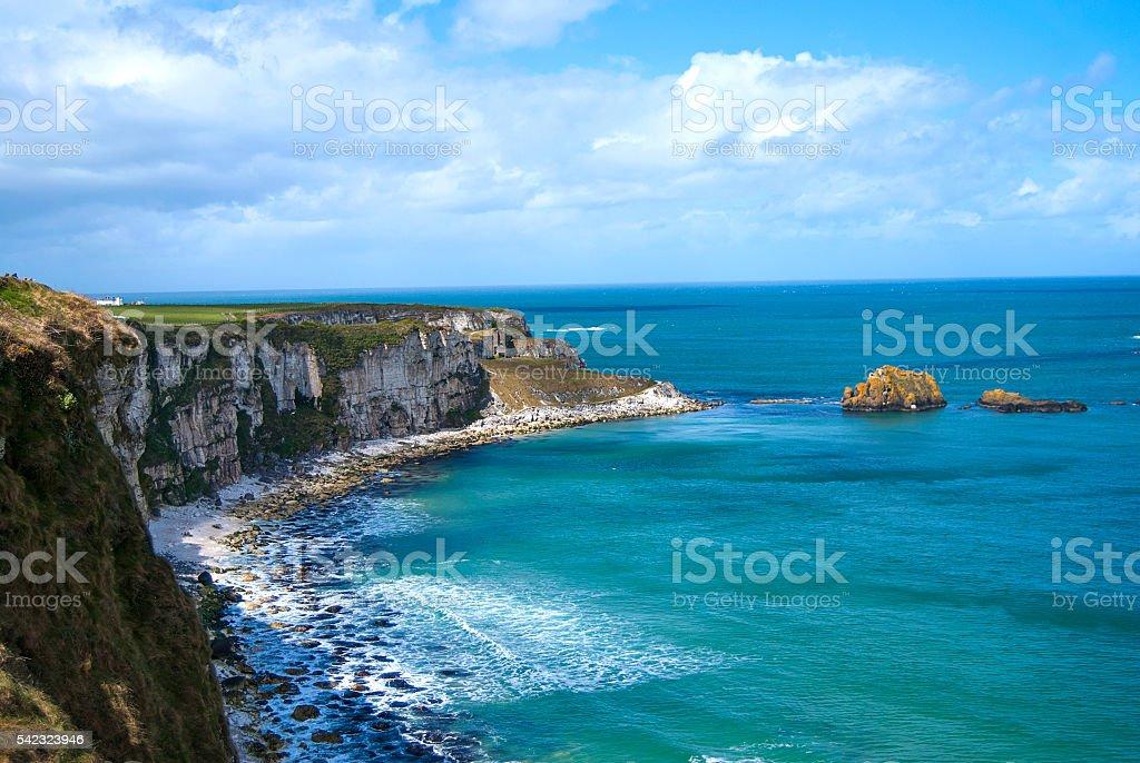 Cliffs in Northen Ireland stock photo