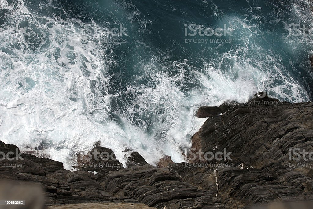 Cliffs in Riomaggiore. royalty-free stock photo
