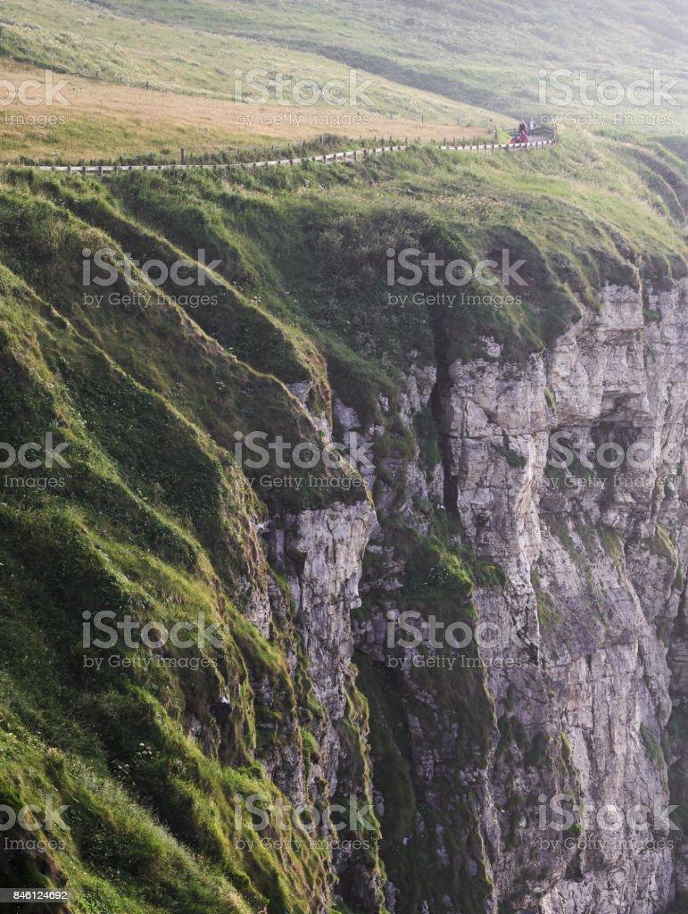 Cliffs near Ballintoy, Northern Ireland stock photo