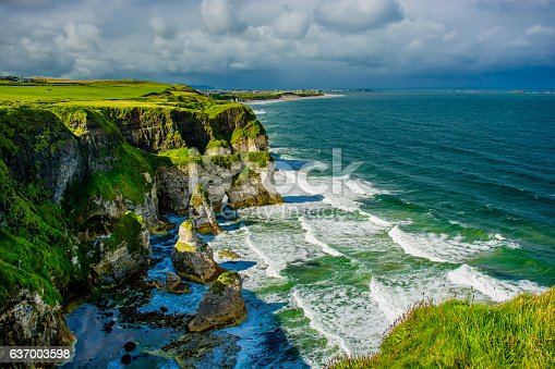 istock Cliffs near Portrush in Northern Ireland 637003598