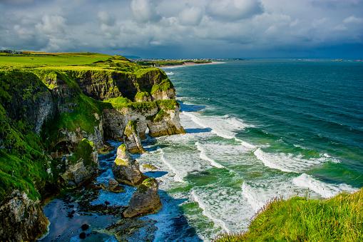 istock Cliffs near Portrush in Northern Ireland 637003598