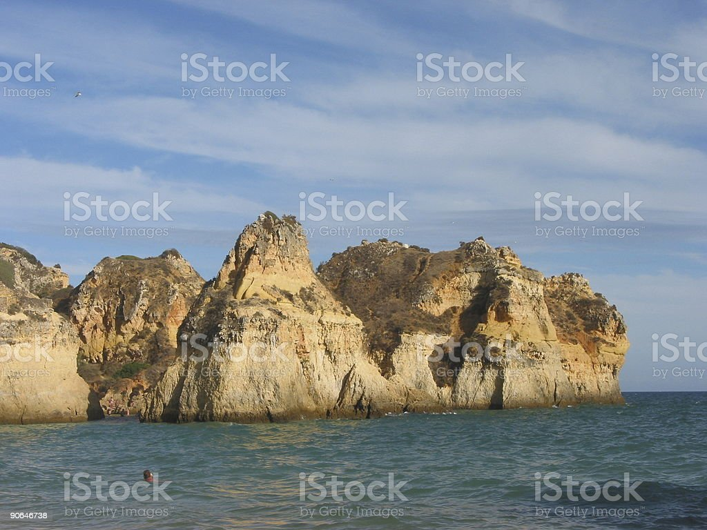 Cliffs of Alvor royalty-free stock photo