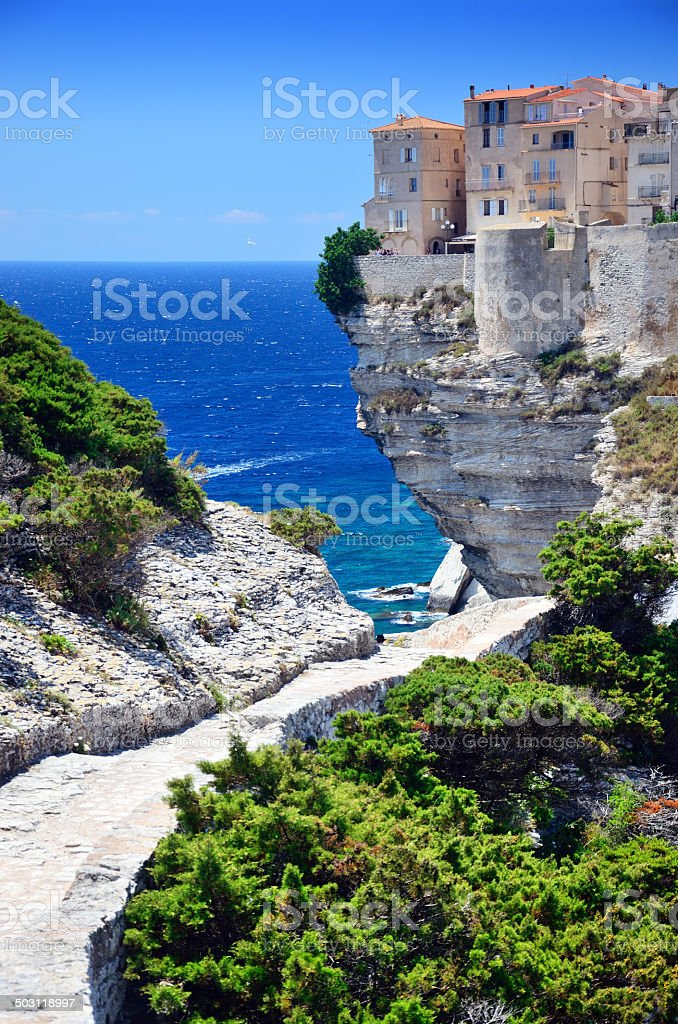Cliffs of Bonifacio stock photo