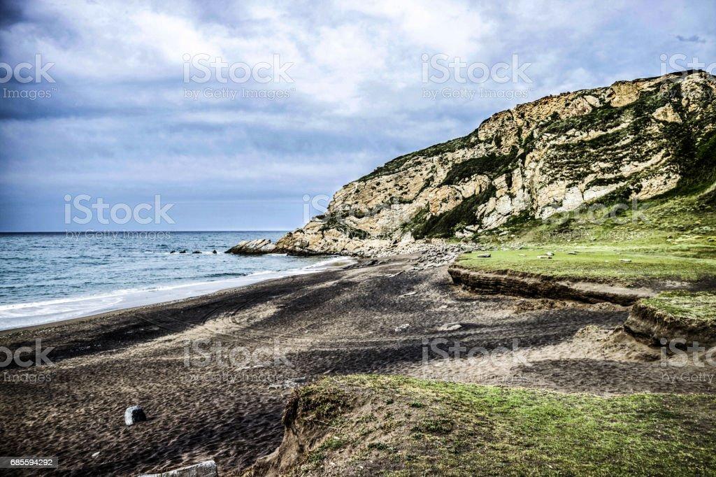 Cliffs of Getxo royalty-free 스톡 사진